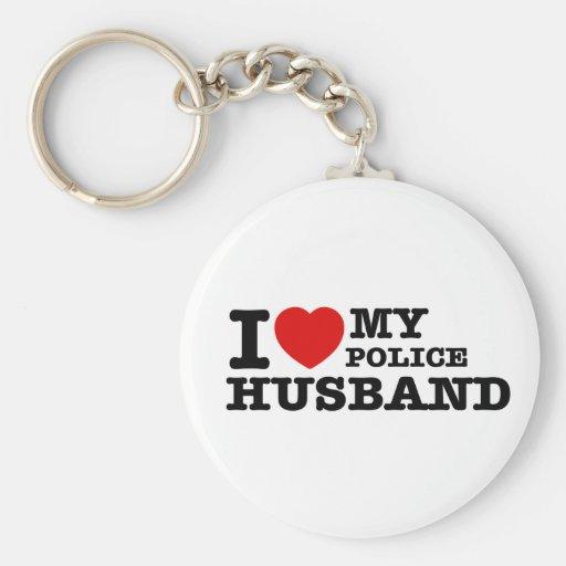 I love my police husband keychains