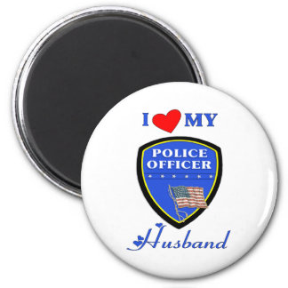 I Love My Police Husband Refrigerator Magnet