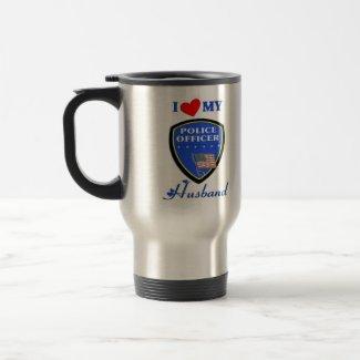 I Love My Police Husband Mugs