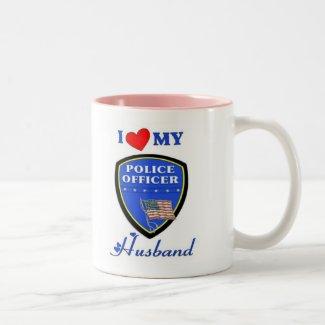 I Love My Police Husband Coffee Mug