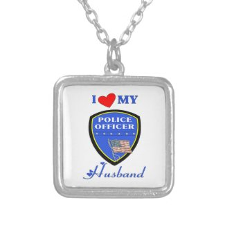 I Love My Police Husband Necklace