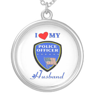 I Love My Police Husband Personalized Necklace