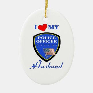 I Love My Police Husband Ornament