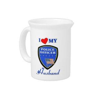 I Love My Police Husband Pitcher
