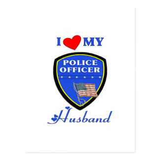 I Love My Police Husband Postcard