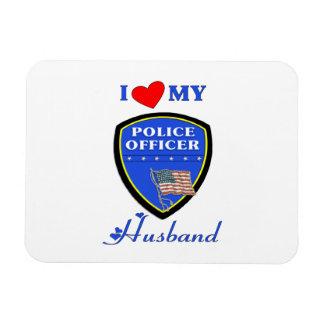 I Love My Police Husband Flexible Magnet