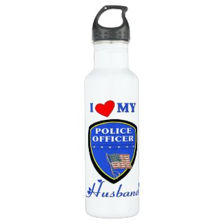 Police Husband Personalized Water Bottles
