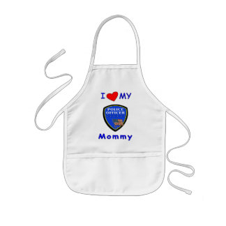 I Love My Police Mommy Apron