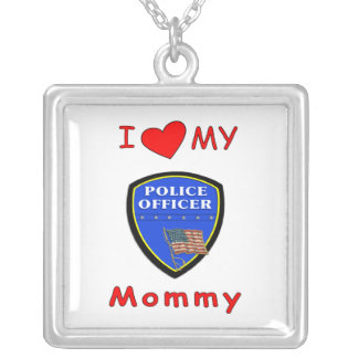 I Love My Police Mommy Pendant