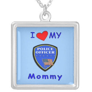 I Love My Police Mommy Necklace