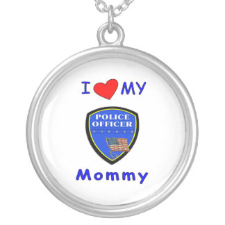 I Love My Police Mommy Personalized Necklace