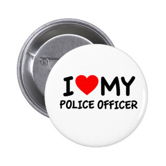 I love my Police Officer Button
