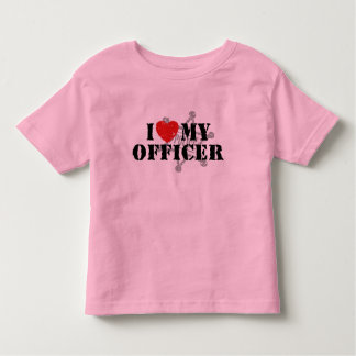 I Love My Police Officer Tee Shirt