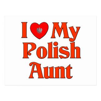 I Love My Polish Aunt Postcard
