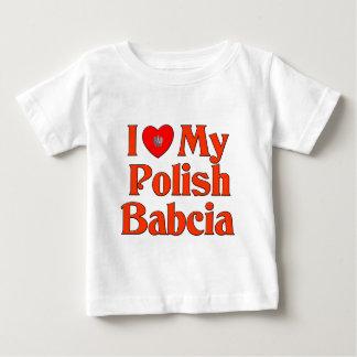 I Love My Polish Babcia (Grandmother) Baby T-Shirt