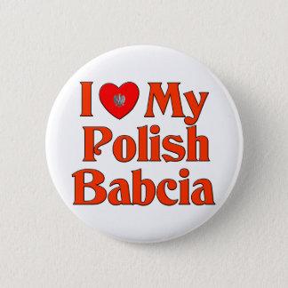 I Love My Polish Babcia (Grandmother) Button