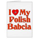 I Love My Polish Babcia (Grandmother) Cards