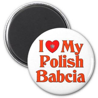 I Love My Polish Babcia (Grandmother) Magnet