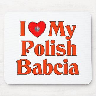 I Love My Polish Babcia (Grandmother) Mouse Pad