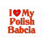 I Love My Polish Babcia (Grandmother) Postcards