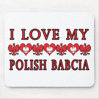 I Love My Polish Babcia Mouse Pad