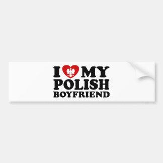 I Love My Polish Boyfriend Bumper Sticker