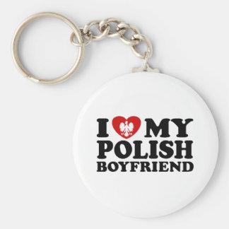 I Love My Polish Boyfriend Keychain