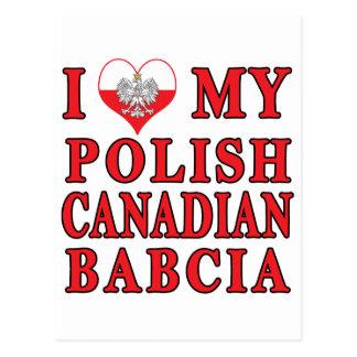 I Love My Polish Canadian Babcia Postcard