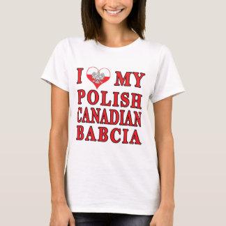 I Love My Polish Canadian Babcia T-Shirt