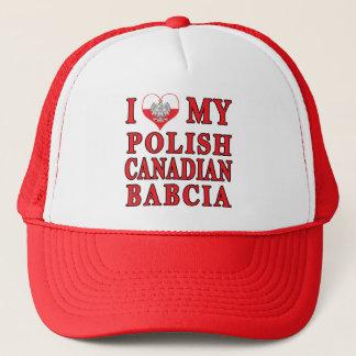 I Love My Polish Canadian Babcia Trucker Hat
