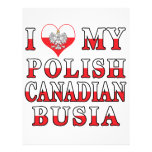 I Love My Polish Canadian Busia Flag Personalized Flyer