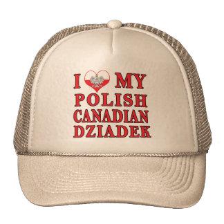 I Love My Polish Canadian Dziadek Trucker Hat