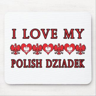 I Love My Polish Dziadek Mouse Pad