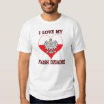 I Love My Polish Dziadek Tee Shirts