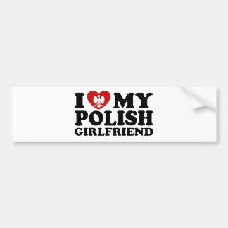 I Love My Polish Girlfriend Bumper Sticker