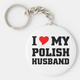 I love my Polish Husband Keychains