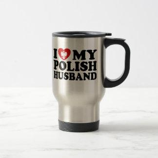 I Love My Polish Husband 15 Oz Stainless Steel Travel Mug