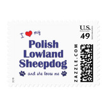 I Love My Polish Lowland Sheepdog (Female Dog) Postage