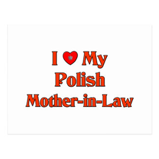 I Love My Polish Mother-in-Law Postcard