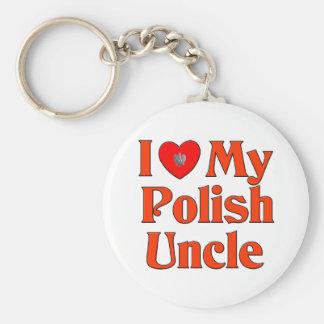 I Love My Polish Uncle Keychain