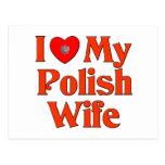 I Love My Polish Wife Postcard