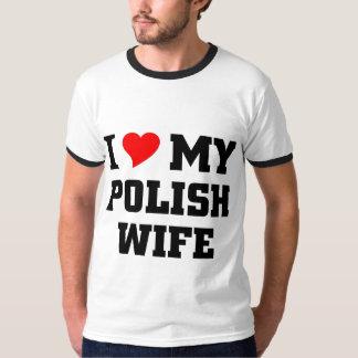 I love my Polish Wife Tee Shirt