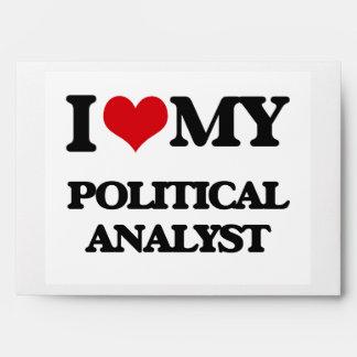 I love my Political Analyst Envelope
