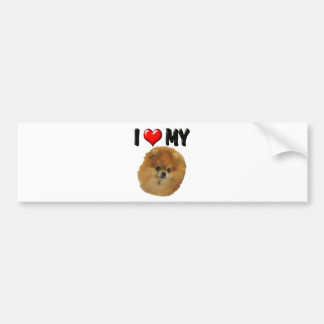 I Love My Pomeranian Bumper Sticker