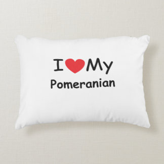 I love my Pomeranian dog Accent Pillow