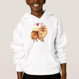 I Love my Pomeranian Hoodie
