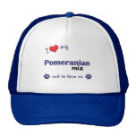 I Love My Pomeranian Mix (Male Dog) Mesh Hat