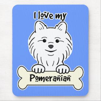 I Love My Pomeranian Mouse Pad