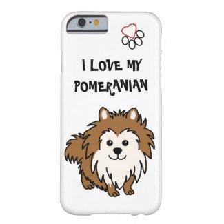 I Love My Pomeranian Phone Case
