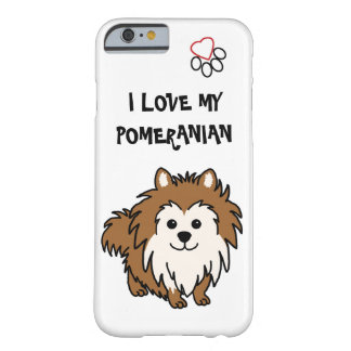 I Love My Pomeranian Phone Case